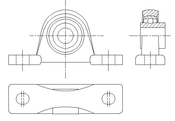 UCP带座轴承和UCK带座轴承CAD图下载
