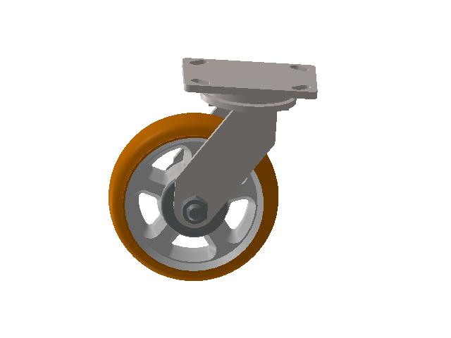 8寸脚轮3D模型下载